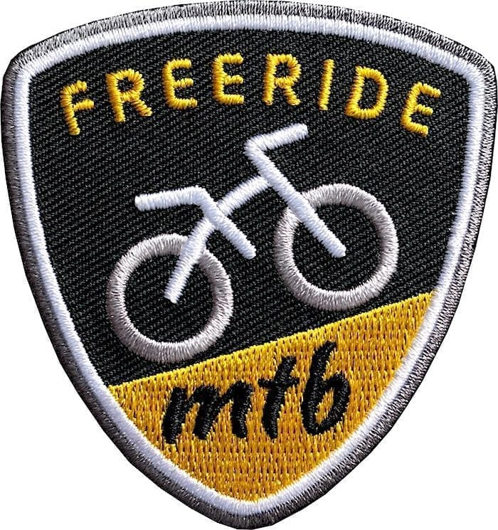 Mtb Mountainbike Freeride Aufnäher von Club of Heroes.